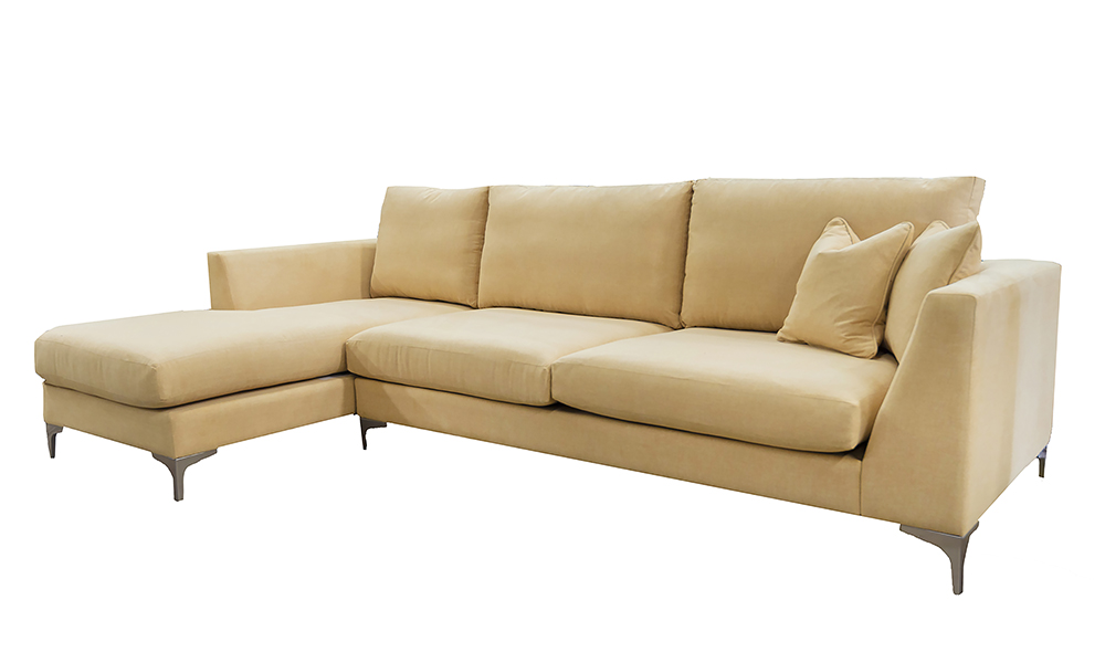 Baltimore Large Lounger, Warwick Comfy Flaxin, Platinum Collection Fabric