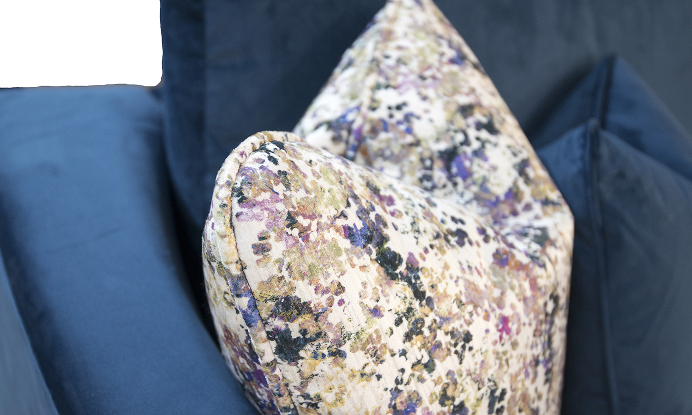 Cushion Detail in Monet Summer, Platinum Collection of Fabric