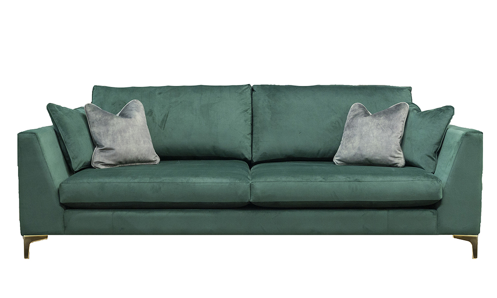 Baltimore 3 Seater Sofa in Plash Hunter, Gold Collection Fabric