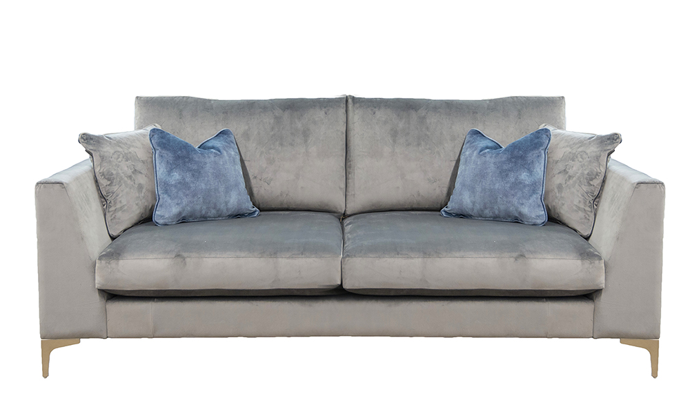 Baltimore Large Sofa in Luxor Dolphin , Silver Collection of Fabrics