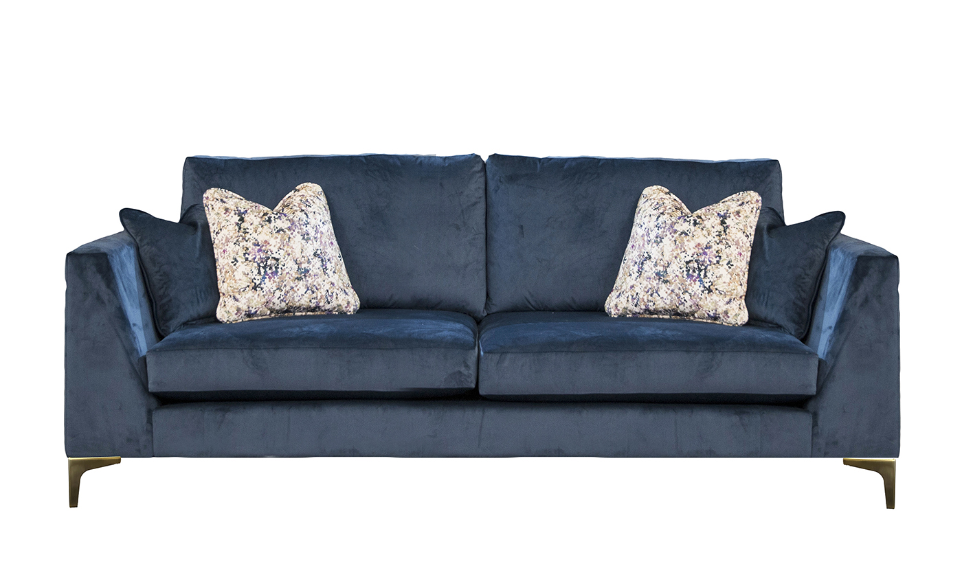 Baltimore Large Sofa in Luxor Pacific, Silver Collection Fabrics