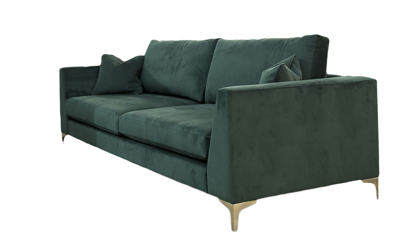 Baltimore Large Sofa in Warwick Plush Hunter, Gold Collection of Fabrics