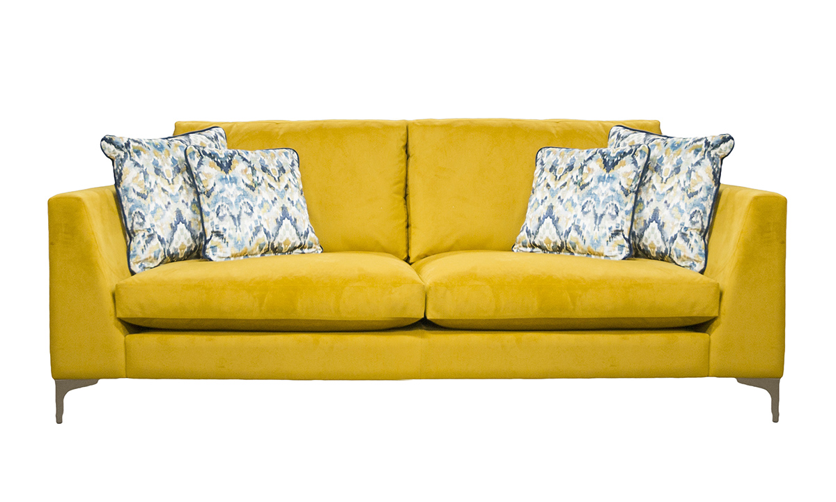 Baltimore Sofa in Plush Turmeric, Gold Collection Fabric