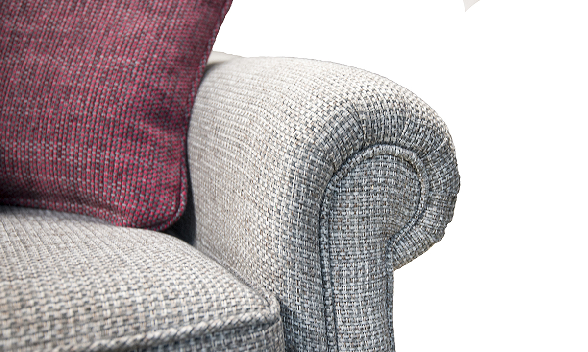 Blair Small Sofa arm in Milwaukee Grey Bronze Collection of Fabrics.