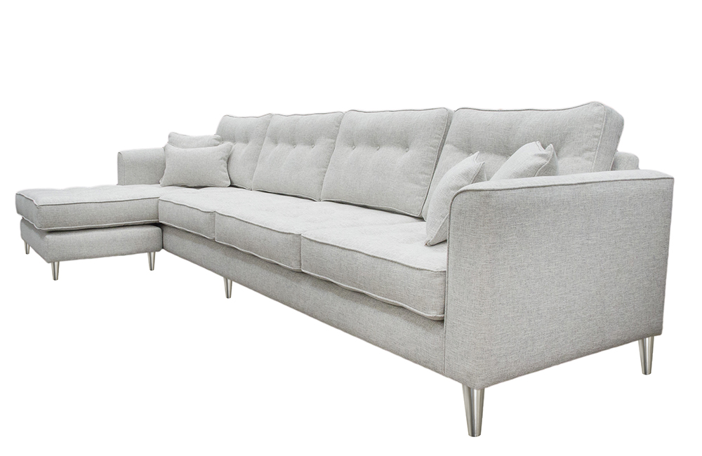 Boland 4 Seater Chaise End Sofa  Christina Marrone Baccio 1232 Mercury