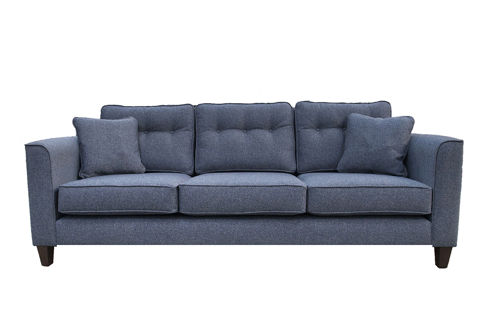 Boland Large Sofa in Belize Ink , Bronze Collection Fabric