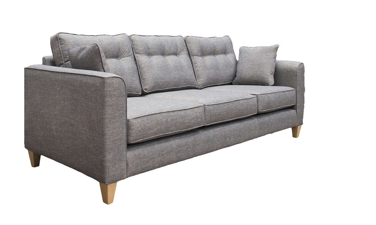 Boland Large Sofa in Ado Coal, Bronze Collection Fabric