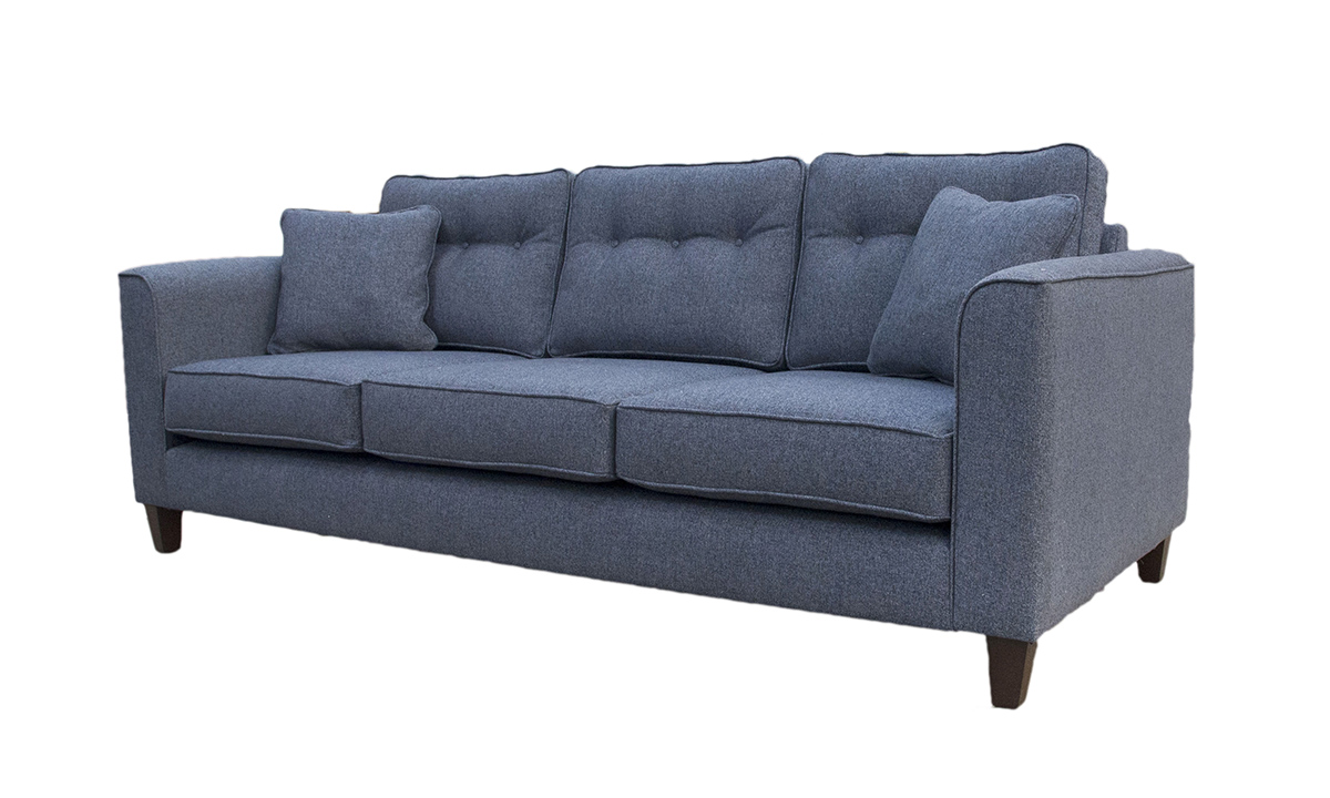 Boland Large Sofa in  Belize Ink, Bronze Collection Fabric