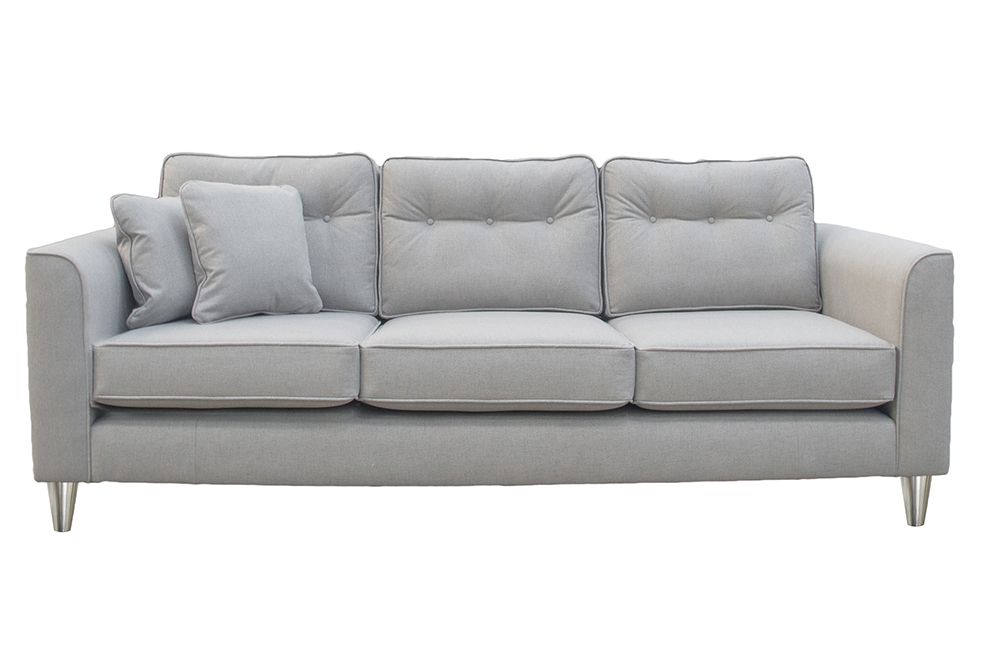 Boland Large Sofa in San Francisco Light,  Bronze Collection Fabric