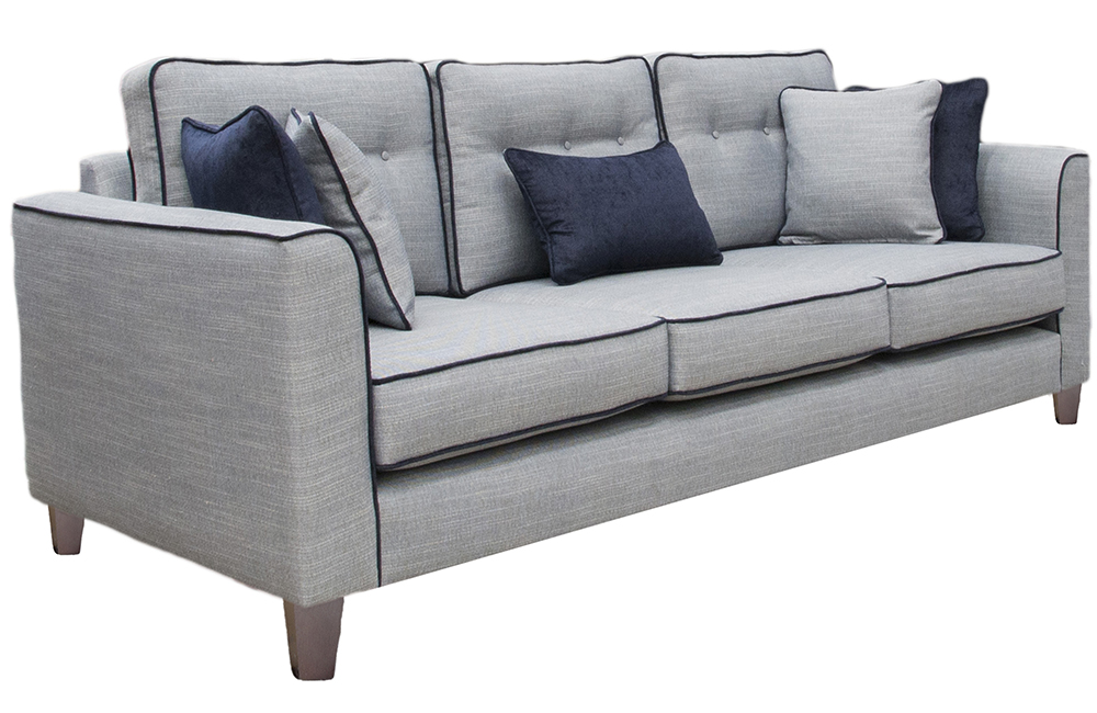 Boland Large Sofa in a discontinued Fabric, with contrast piping