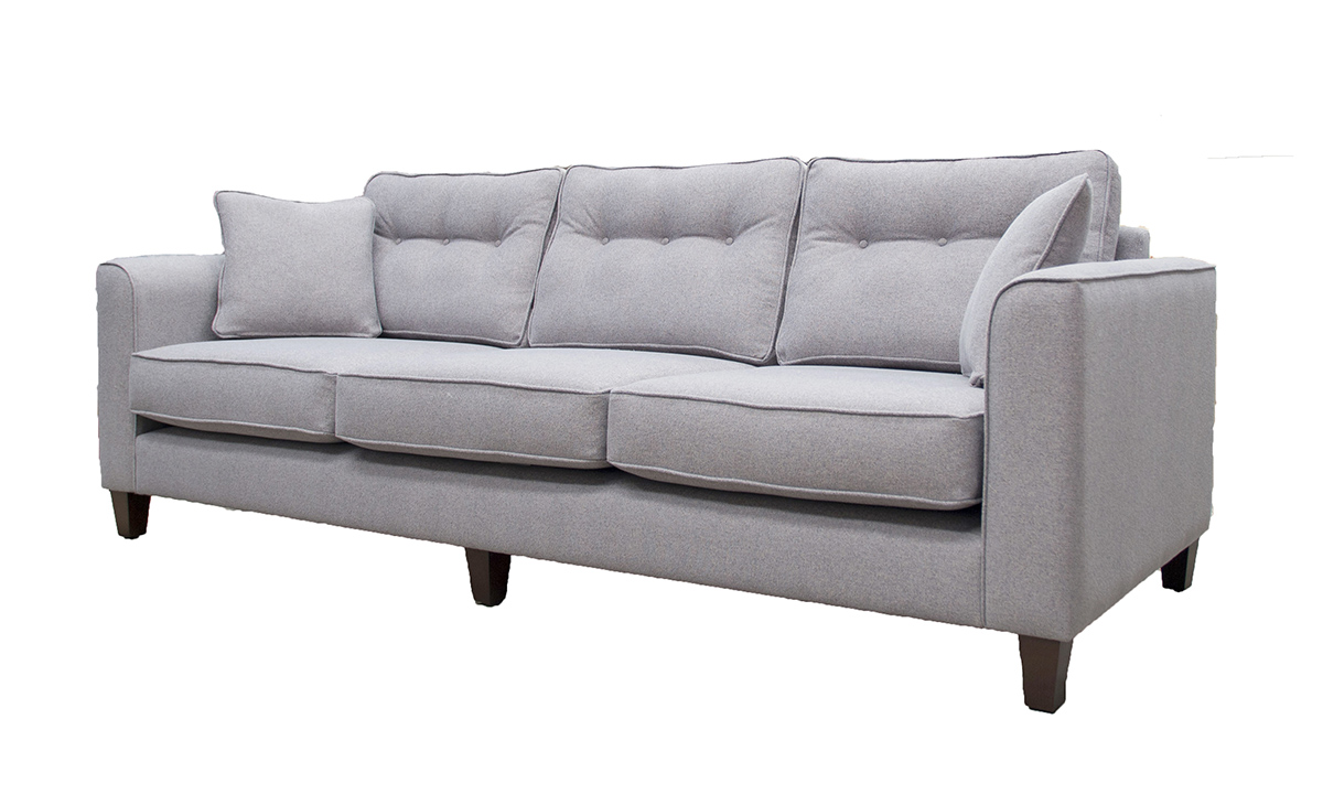 Bespoke Size Boland Sofa in Belize Azzure, Bronze Collection Fabric