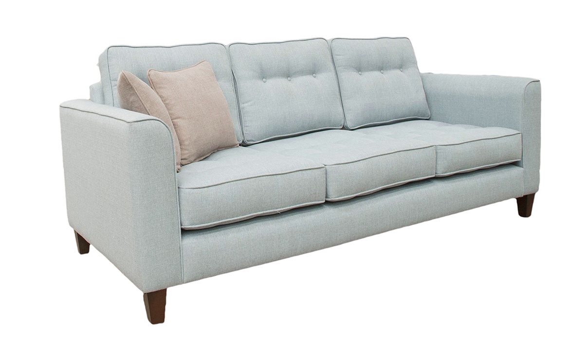 Bespoke Size Boland Sofa in Aosta Duck Egg, Silver Collection Fabric