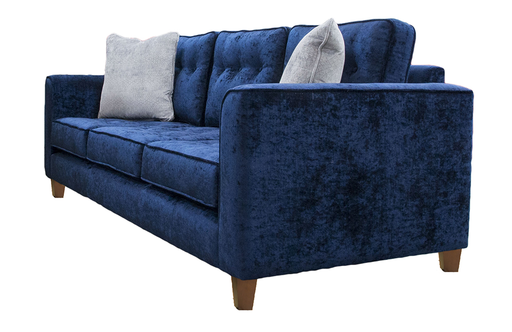 Boland Large Sofa in Mancini Carbon, Gold Collection Fabric