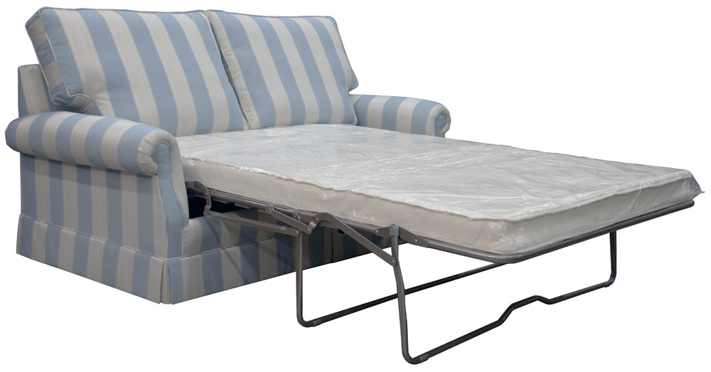 Clare-Sofabed-in-Athena-Stripe-Marine-Extended