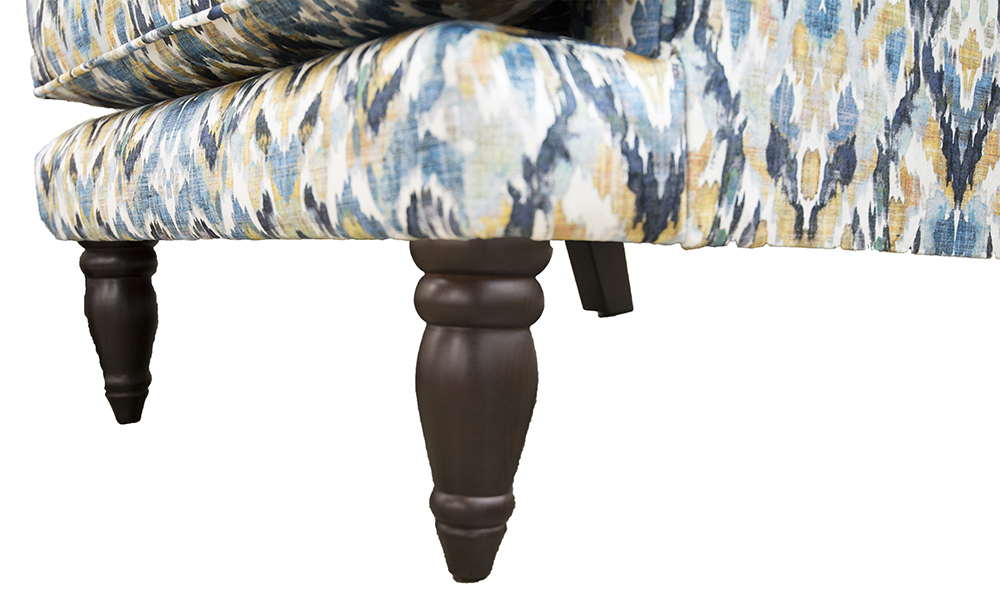 Cleary Chair in Monet Winter, Platinium Collection Fabric