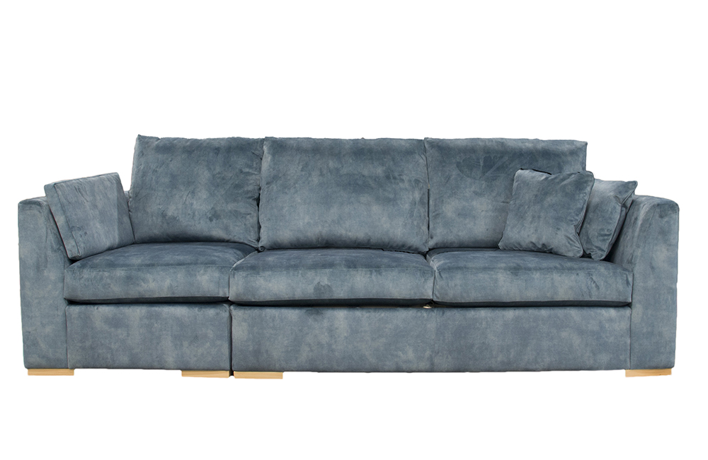 "Bespoke Klaus 4ft6"" Sofa Bed in Lovely Jade Gold Fabric Collection"