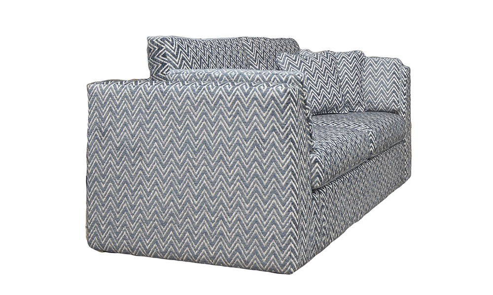 Klaus 4ft6 Sofa bed in Piper navy, Gold Collection Fabric