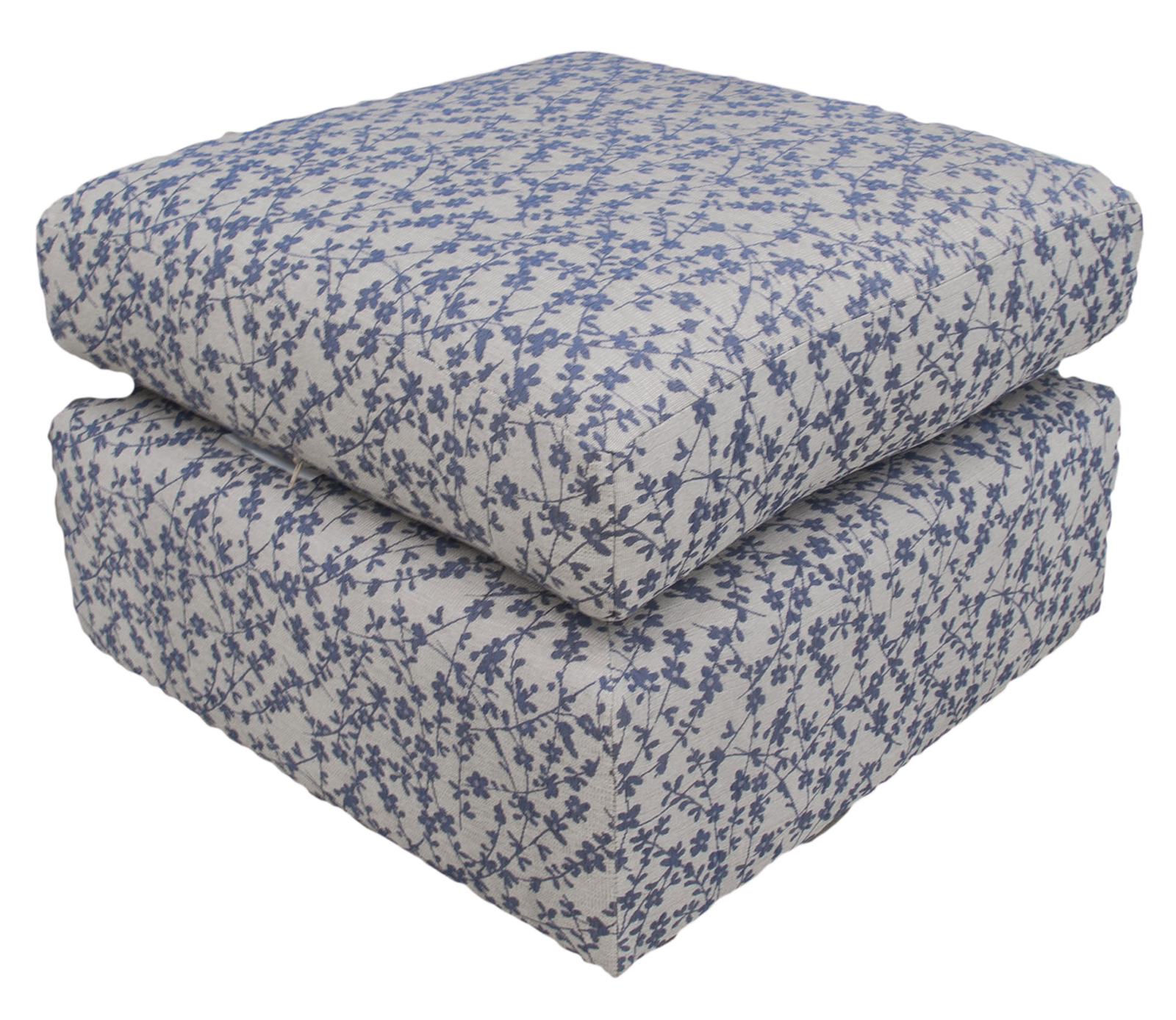 Como Island in Kwint Navy Silver Collection Fabric