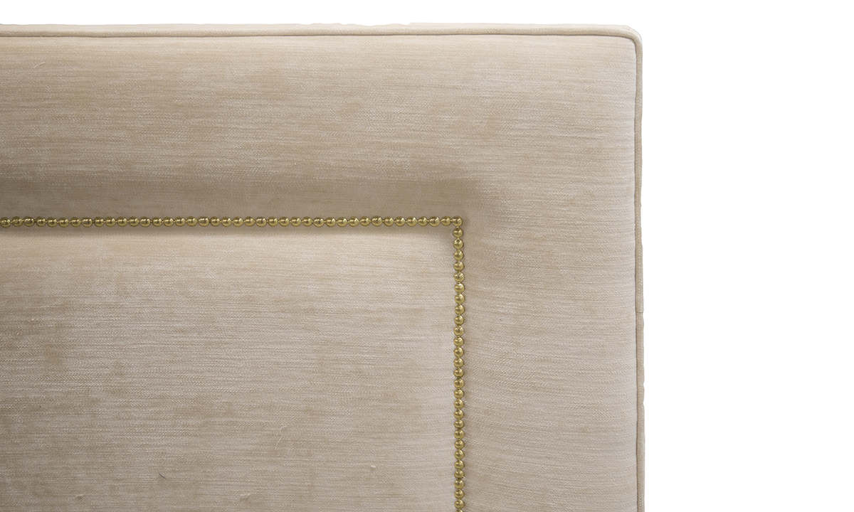 Coolmore Headboard 4ft6 in Mancini Cotton Gold Collection of Fabrics