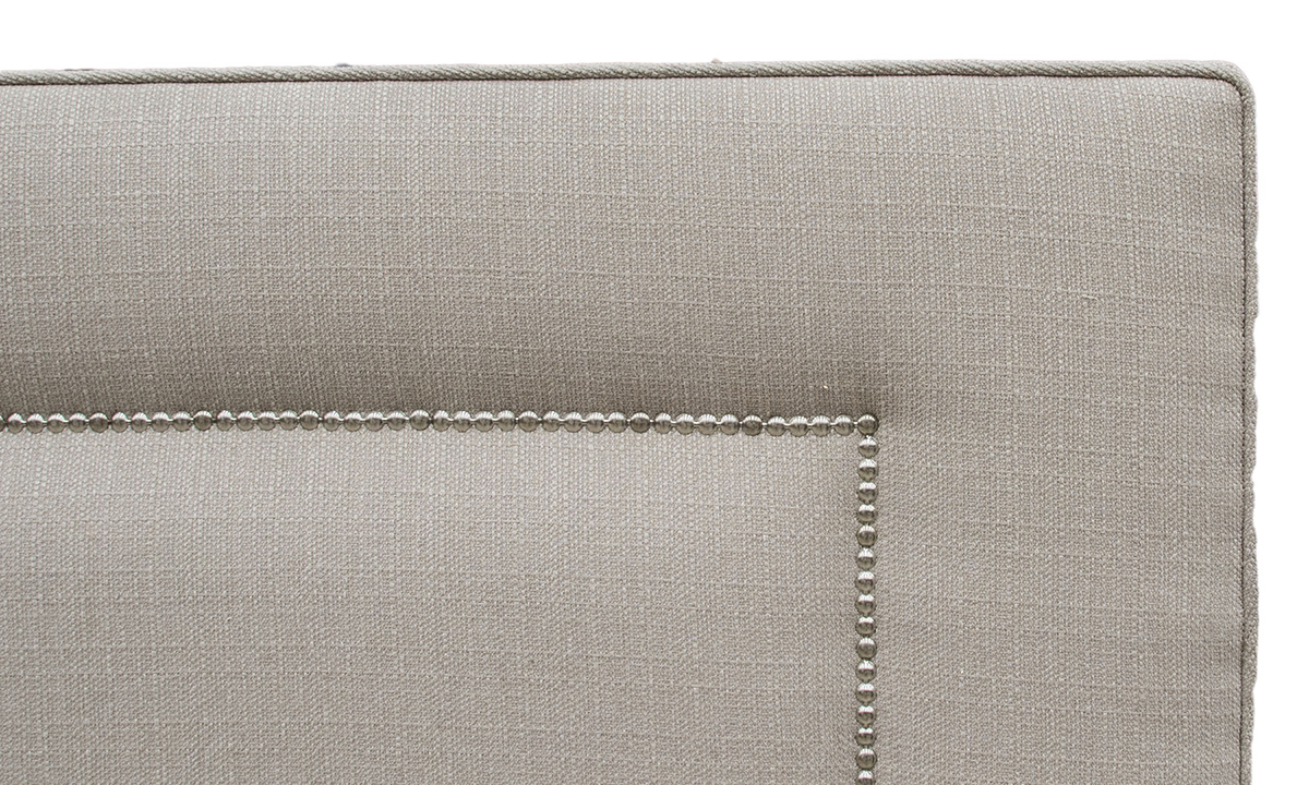 Coolmore Headboard 5ft Chrome Stud Aosta Linen
