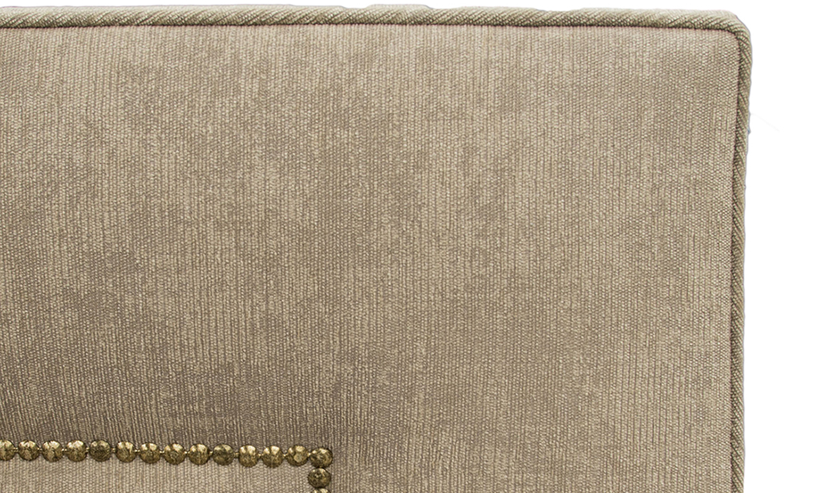 Coolmore Headboard Brass Studding Dagano Plain Linen