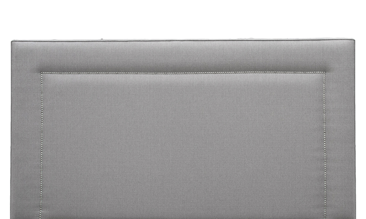 Coolmore 6ft Headboard Aosta Silver, Silver Collection Fabric