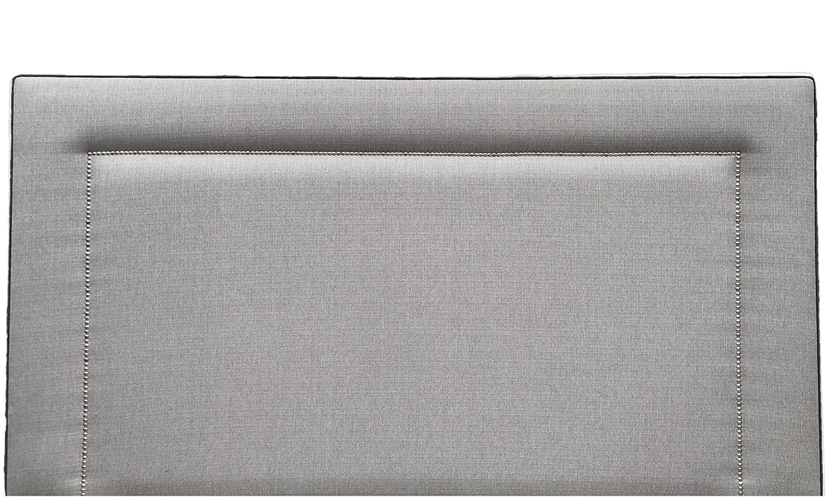 Coolmore-Headboard-6ft-Chrome-Stud-Aosta-Silver-piping-aosta-charcoal