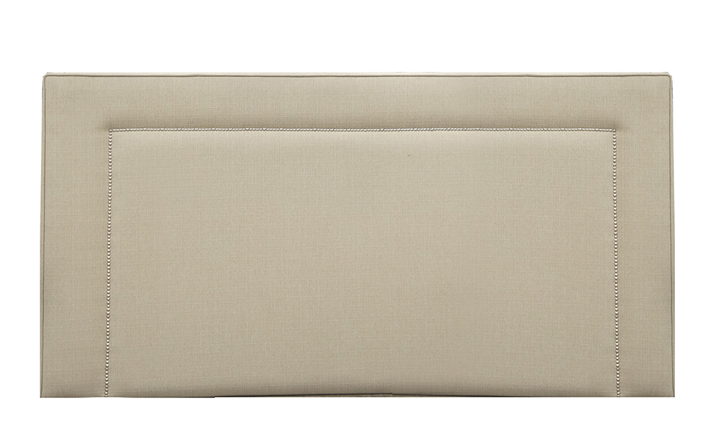 Coolmore 6FT Headboard in Aosta Linen, Silver Collection of Fabrics