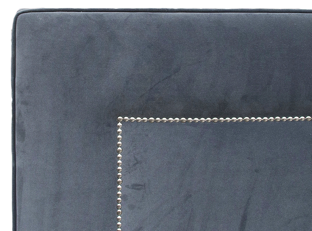 Coolmore 6ft Headboard - Chrome Studding Close Up - JBrown Monza 14834