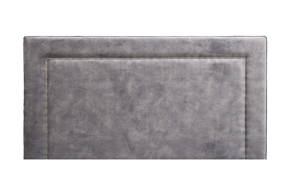 Coolmore 6ft Headboard in Lovely Asphalt, Gold Collection Fabric