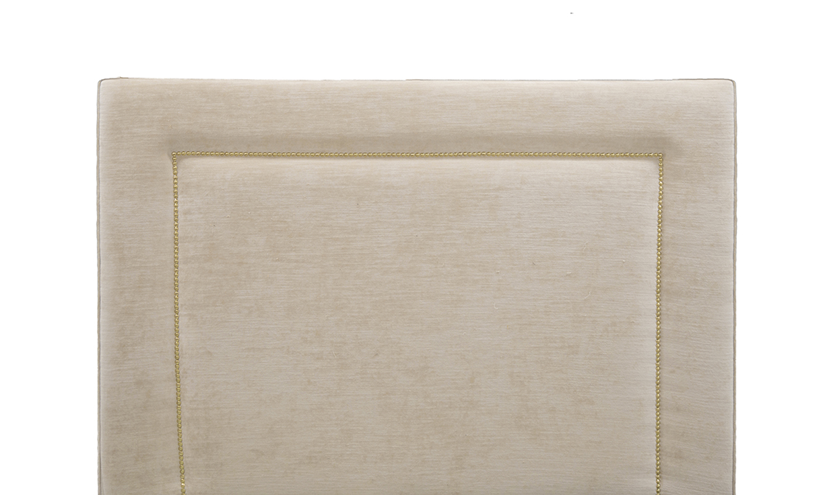 Coolmore Headboard 4ft6 in Mancini Cotton-Gold Collection of Fabrics