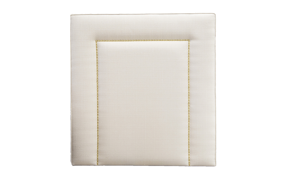 Coolmore 3ft Headboard in Aosta Cream, Silver Collection
