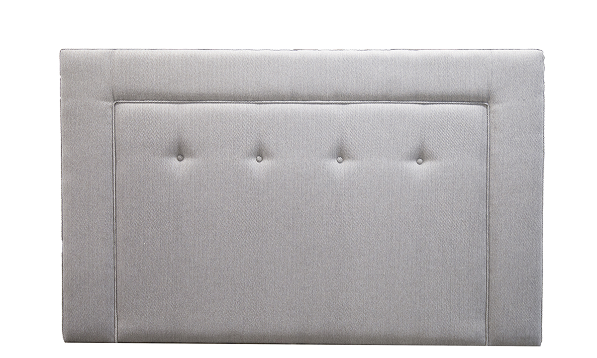 Coolmore Headboard 5ft bespoke light button in  Porto Caramel Silver Collection of Fabrics