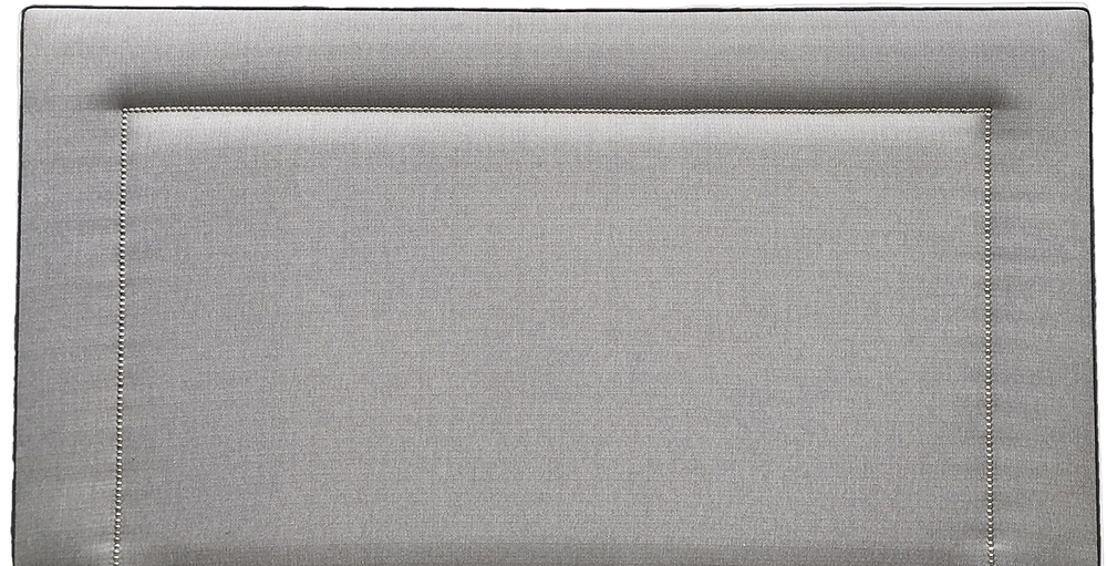 Coolmore Headboard 6ft - Chrome Stud Aosta Silver piping aosta charcoal