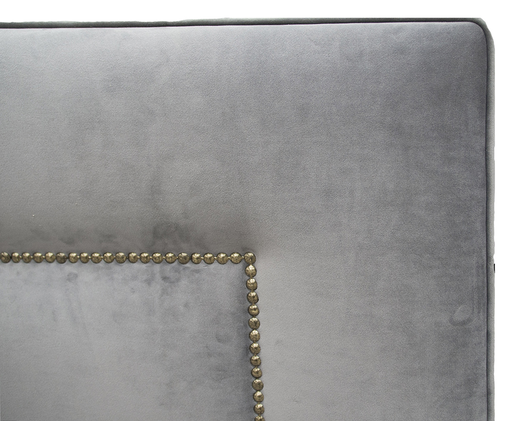 Coolmore Headboard 6ft Detail - Brass Studding - Luxor Dolphin