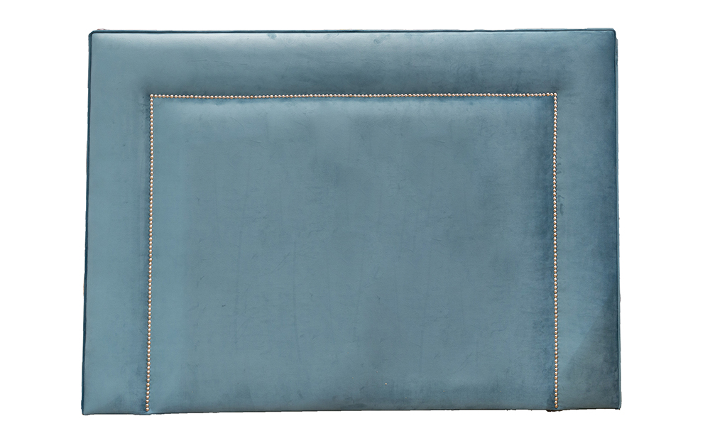 Coolmore 5ftHeadboard Luxor Turquoise, Silver Collection Fabric