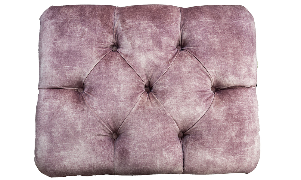 Costa-Deep-Button-Footstool-top-view-in-Lovey-Dusk-Gold-Collection-of-Fabrics