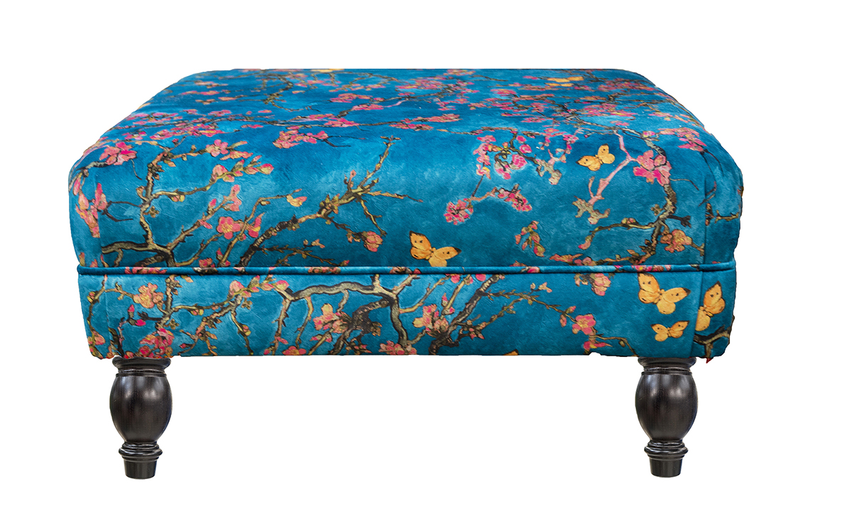 Costa-Footstool-in-Trussardi-Print-Gold-Collection-Fabric