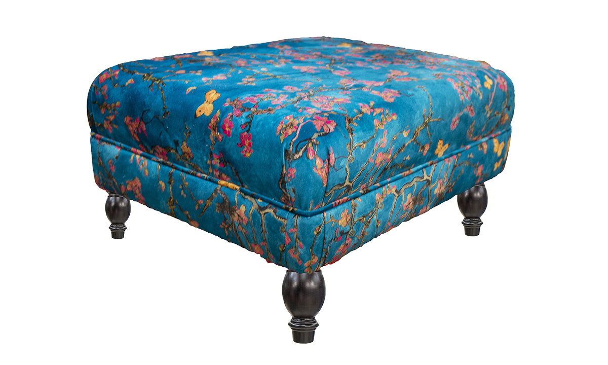 Costa-Footstool-side-in-Trussardi-Print-Gold-Collection-Fabric