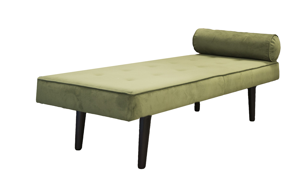 Day Bed, in Plush Pine, Gold Collection Fabric