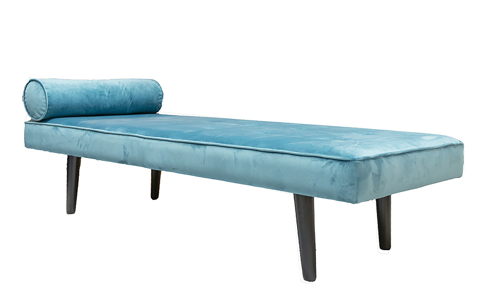 Day Bed in Luxor Turquoise, Silver Collection of Fabrics