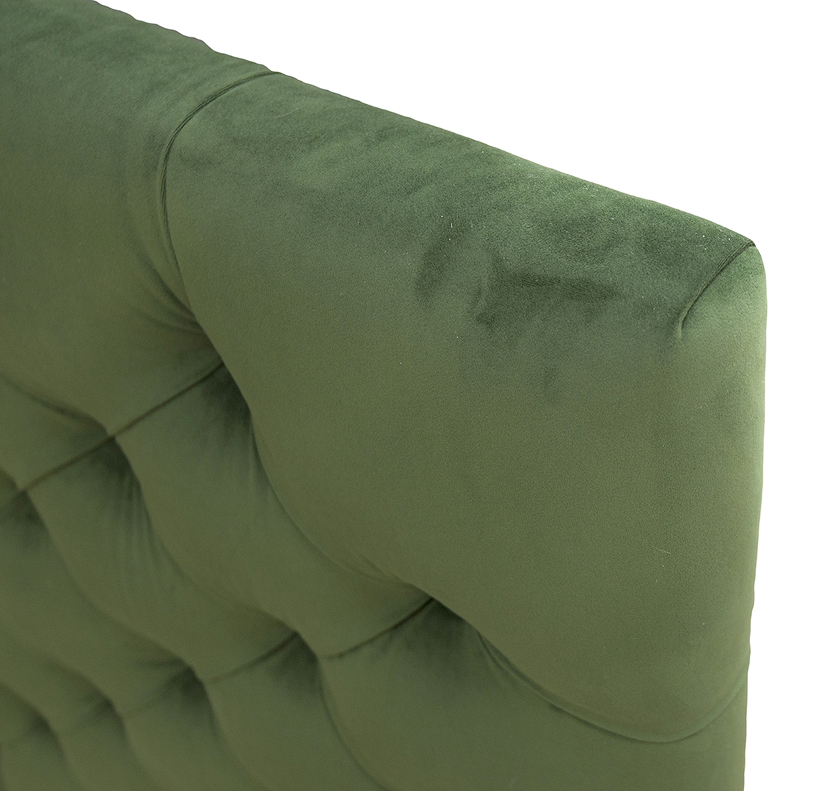 Deep Button Headboard 6ft Side in Amalfi Forrest Platinum Fabric Collection
