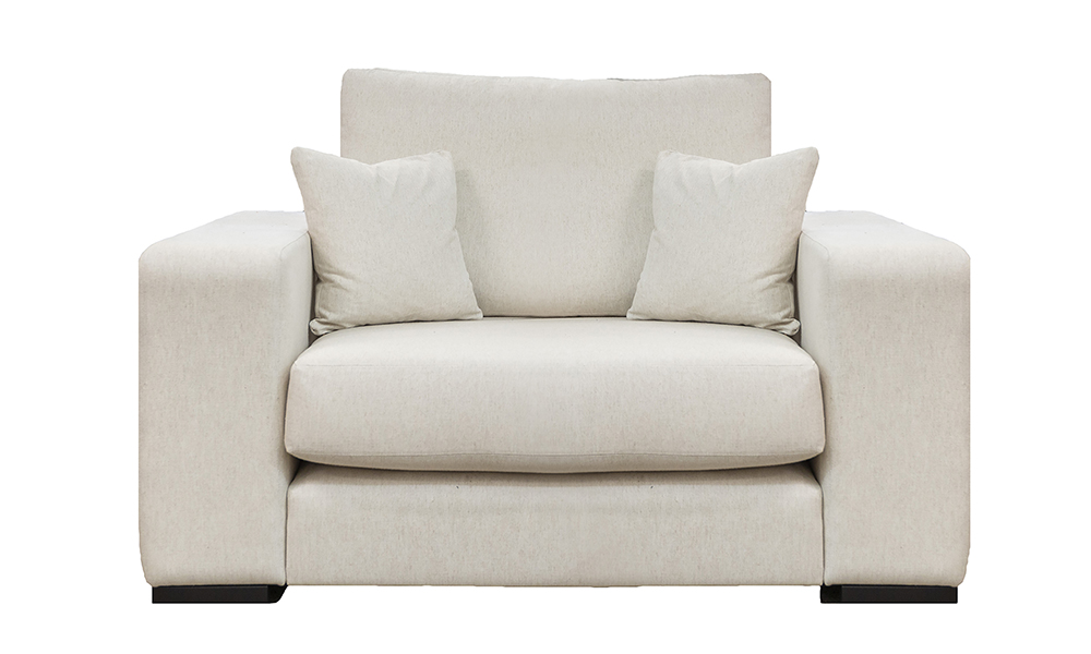 Denver Love Seat in Jbrown Costal 030 Cotton Gold Collection Fabric