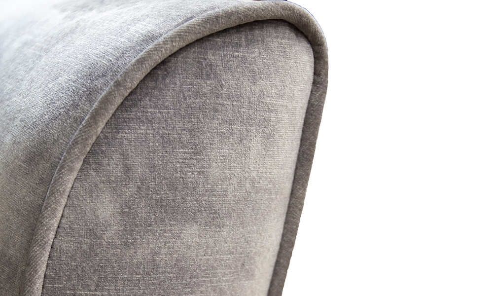 Dylan Chair arm detail in Lovely Armour, Gold Collection of Fabrics