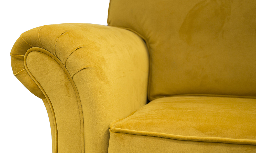 Elton Small Sofa arm in Plush Turmeric Gold-Collection-Fabric