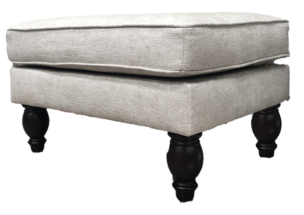 Alex Footstool Side in  Dagano Plain Linen Bronze Collection