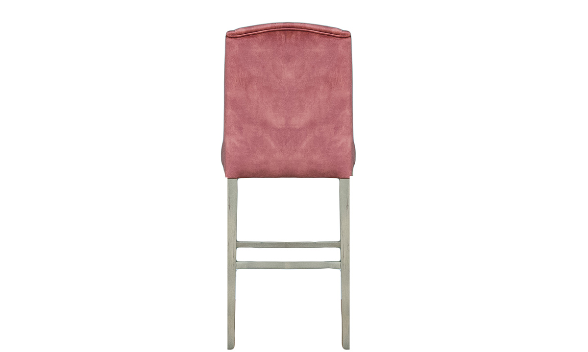 Emmy Barstool in Lovely Coral, Gold Collection Fabric
