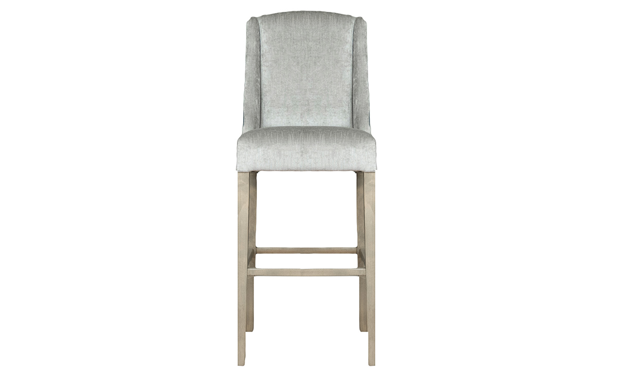 Emmy Barstool in Edinburgh, Silver Collection Fabric
