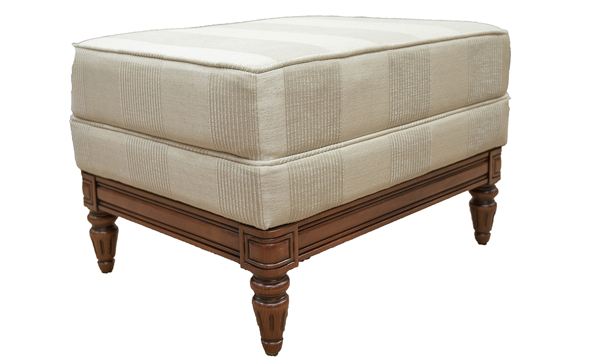 Gandon-Footstool-Side-in-Nebbiolo-Diamond-Stripe-Platinum-Collection-Fabric