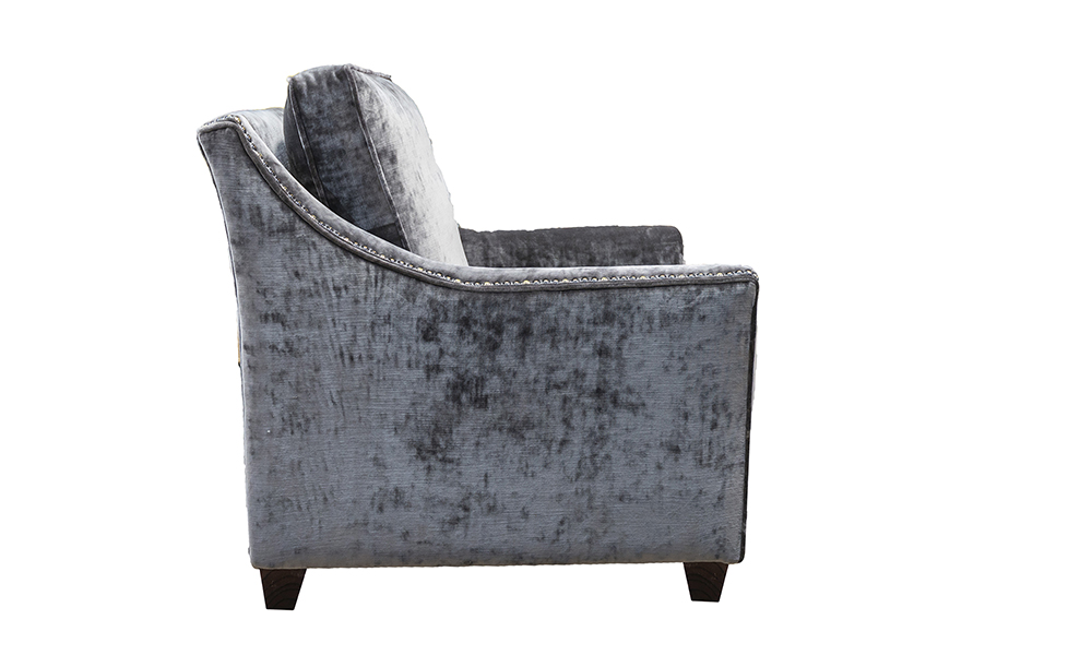 Grenoble Chair in Boulder Charcoal, Platinum Collection Fabric